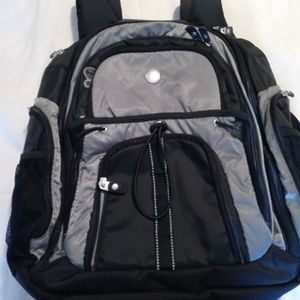 Dell black and gray heavy duty backpack